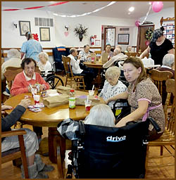 Residents Party at Cornerstone Living